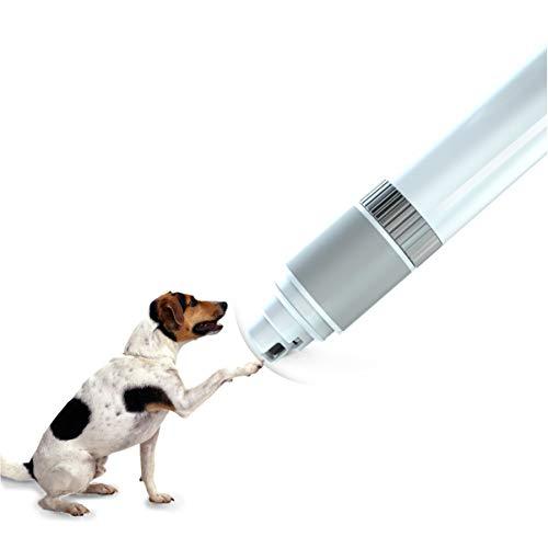 HD2DOG Nagel-Schleifer für Hund, Low Noise Elektro einstellbar Schnelle Schleifen wiederaufladbare USB, 2000mAh eingebaute Batterie Unterstützung 20h Arbeit Haustier-Nagel-Trimmer,Nailgrinder -