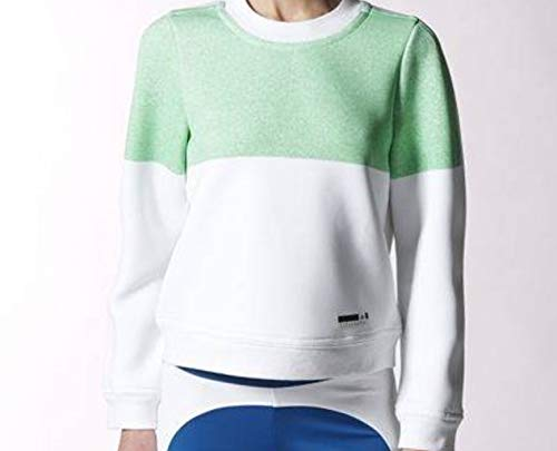 adidas Felpa by Stella McCartney SC SP Sweater Bianco Verde Small