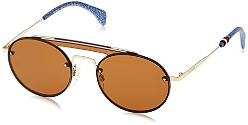 tommy hilfiger th gigi hadid3 70 j5g 99 occhiali da sole, oro (gold/bw black brown), donna