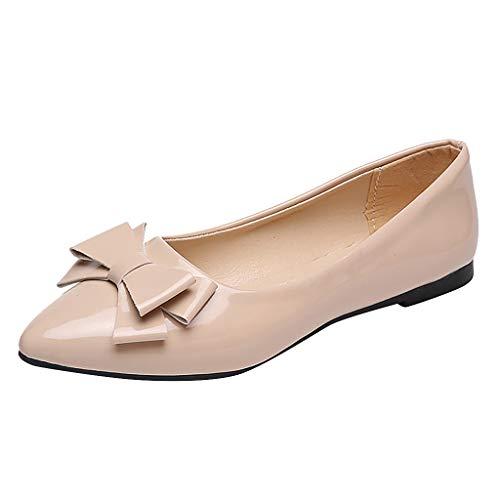 B-commerce Mode Frauen Pointed Toe Sommer Einzelnen Schuhe Damen Einfarbig Flache Lackschuhe Freizeitschuhe -