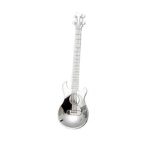 TAOtTAO Edelstahl-Gitarren-Löffel-Regenbogen-Kaffee-Tee-Löffel-Besteck-trinkende Werkzeuge (G)
