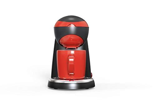 Team Kalorik 1-Tassen-Kaffeeautomat, Inklusive 1 Keramiktasse (250 ml), 400 W, Schwarz/Rot, TKG CM 1015 BR