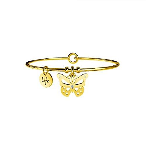 KIDULT LIFE Collection Bracciale in acciaio pvd gold FARFALLA CARPE DIEM 231592