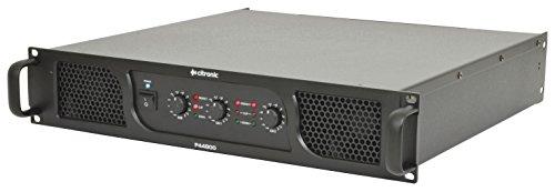Citronic P44800 2.1 Verkabelt Schwarz - Audioverstärker (2.1 Kanäle, 1600 W, 0,04%, 86 dB, 6.35mm, 483 mm) (400 Watt 4 Kanal Amp)