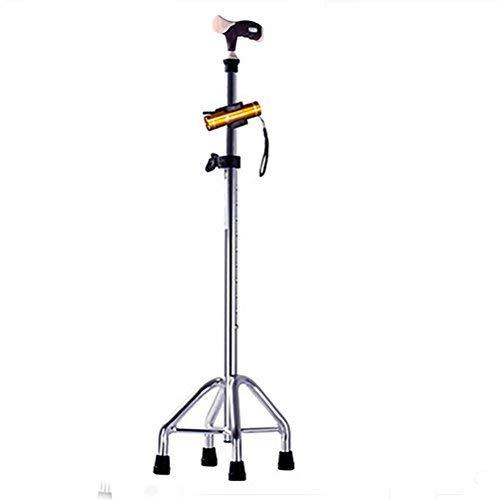 ZHAS Old Man's Crutches Verstellbarer Quad Cane Leichter Gehstock für Männer \u0026 Frauen Anti-Rutsch-Einstellung Ultraleichte GEH-Wanderer - Faltbare Cane Quad