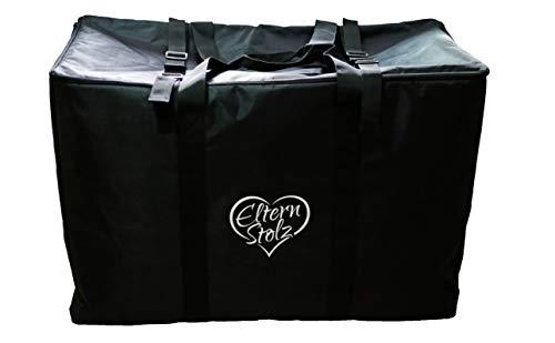 Gepolsterte Elternstolz Transporttasche Schwarz Für Kinderwagen, Buggys Und Autositze z.B. Für Joie Mytrax Litetrax