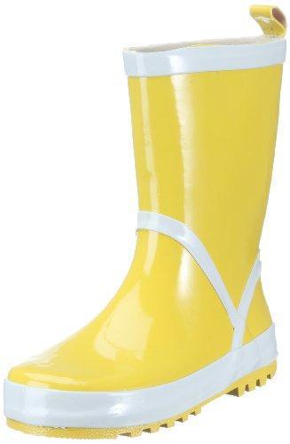 Playshoes Kinder Gummistiefel aus Naturkautschuk, trendige Unisex Regenstiefel mit Reflektoren, Gelb (gelb 12), 32/33