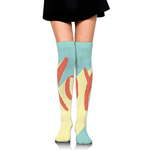 OQUYCZ Woman Pop Art Retro Hugs and Kisses Symbol on Vibrant Illustration Simplicity High Boot Socks