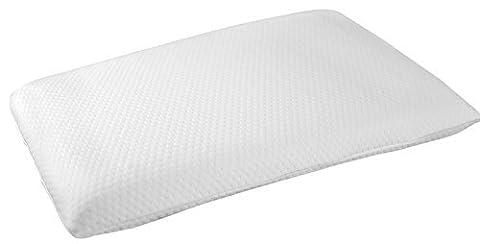 Slim en plat: Best Oreiller en mousse visco-élastique, Housse en coton, FIN, profil bas, courtes, Loft est uniquement 7,6cm. Idéal pour les utilisateurs dormant côté dos, ventre, et