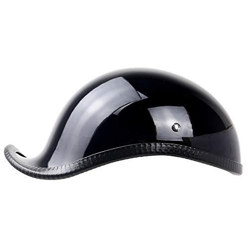 L.Z.HHZL Motorradhelm Motorrad Auto Fahrradhelm Persönlichkeit Schwarz ABS Kunststoff Retro Harley Leder Halbhelm Kopfschutz (Size : XL)