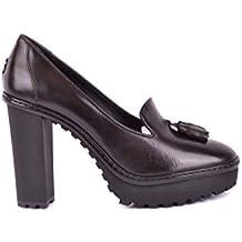 Moncler Mujer MCBI212014O Marrón Cuero Zapatos De Tacón