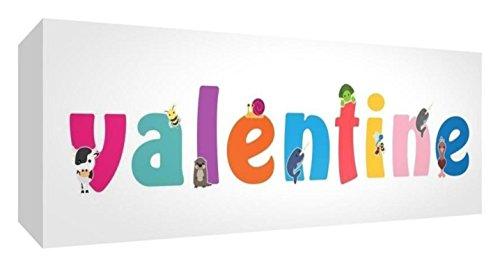 Little Helper Toile Bo/îte Galerie Envelopp/é avec Panneau avant Style Illustratif Color/é avec le Nom de Jeune Fille Heloise 15 x 42 x 3 cm Petite