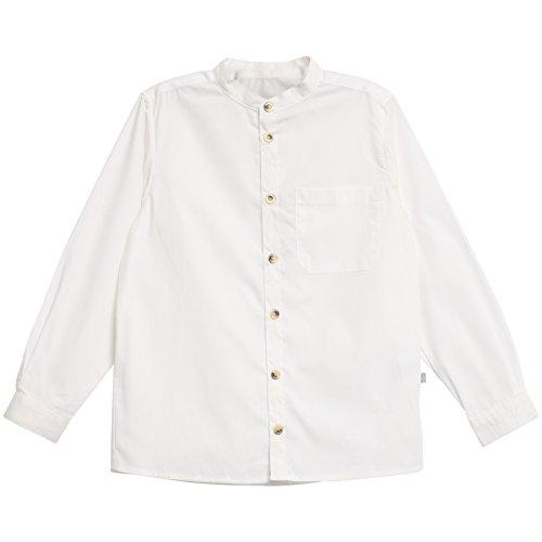 Wheat Jungen Hemd Pocket Langarm, Weiß (White 364), 140 (Herstellergröße:10y/ 140) (White Hemd Pocket)