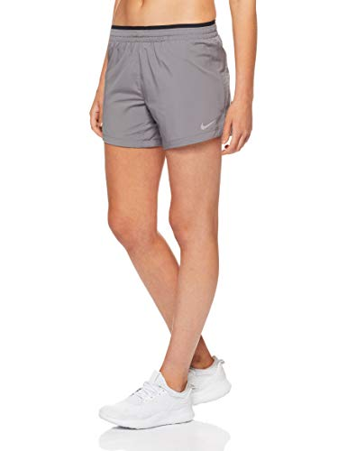 Nike Damen Elevate Shorts, Gunsmoke/Black/Reflective Silver, XS