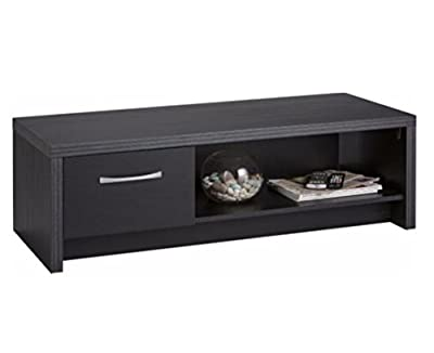 Coffee Table Black Occasional Reception Table 1 Drawer Open Shelf Venice