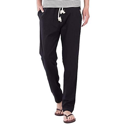 (Beonzale Herren Casual Slim Strandhosen Leinen Hose Size Mode Lange Sports Cargo Hosen Jeans)
