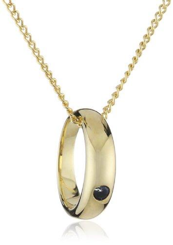 ZEEme Kinder und Jugendliche Halskette 8 Karat (333) Gelbgold Saphir 38.0 cm blau 500341044-2-38Z