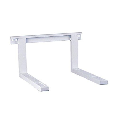 conecto CC50304 Universal-/Mikrowellenhalterung für Wandmontage Längenverstellbare Ausleger (385-535mm), Auslegerbreite 43cm, Traglast max. 35,0kg, weiß