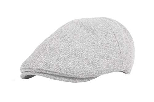 WITHMOONS Coppola Cappello Irish Gatsby Wool Newsboy Hat Flat Cap SL3021  (Gray) 27ab703ded26
