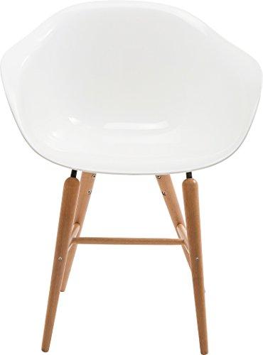 Kare 77486 Stuhl mit Armlehne Forum, Weiß