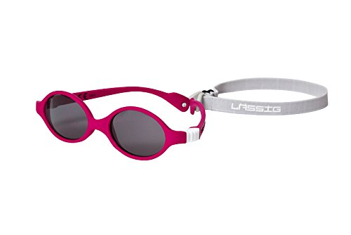 LÄSSIG Baby Kinder Sonnenbrille Bruchsicher Flexible Bügel Verstellbares Gummiband Brillenetui 100% UVA UVB Schutz/Splash und Fun Sunspecs, One Size, rosa