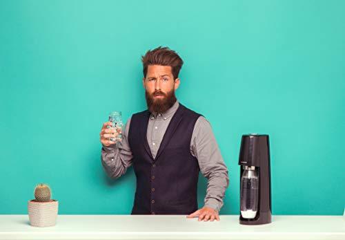 SodaStream Easy Wassersprudler zum Sprudeln von Leitungswasser, macht aus Leitungswasser Sprudelwasser – ohne schleppen. mit 1 Zylinder und 1L PET Flasche (BPA frei); Farbe: schwarz - 3