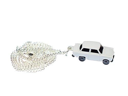 Miniblings Trabi Kette Halskette 45 cm Miniatur Auto Trabant Fahrzeug Pkw weiß