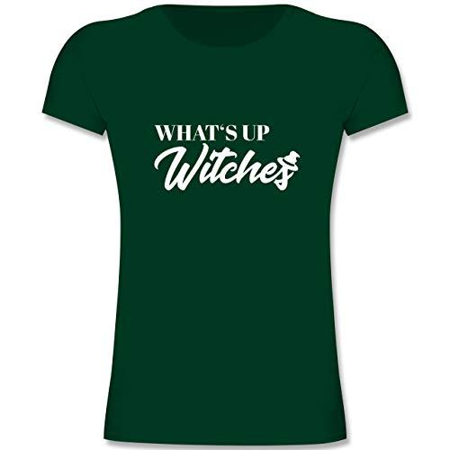Anlässe Kinder - Whats up Witches - 164 (14-15 Jahre) - Tannengrün - F131K - Mädchen Kinder (Weiße Magierin Kostüm Kind)