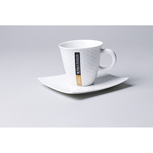 TASSE / SOUS TASSE CAFE 10 CL DUNE (LOT DE 6)