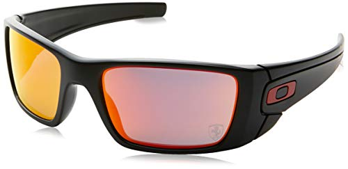 Oakley Herren Sonnenbrille Fuel Cell, Gr. One size, Matte Schwarz/Ruby Iridium Ferrari Collection