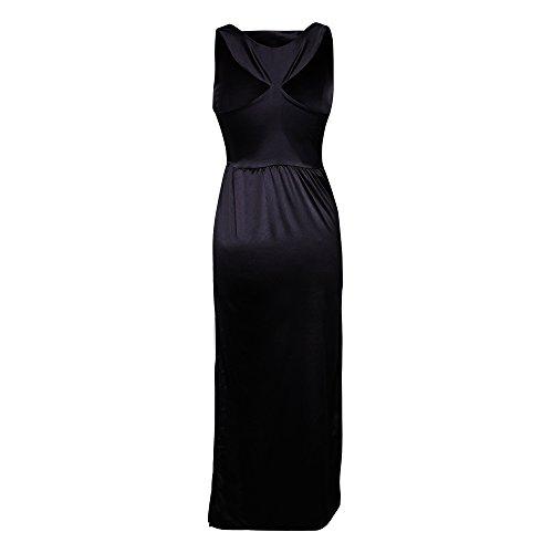 Utopiat Damen Cocktail Kleid schwarz schwarz mit Geschenkbox