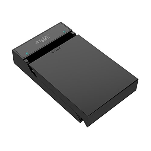 """QuantumZERO USB 3.0/USB 3.1 Gen 1 Enclosure Case for 3.5""""/2.5"""" Hard Drive Disk HDD/SSD [UASP Enabled] [ASMedia ASM1153E chipset]"""