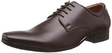 Bata Men's Pine-Derby Brown Formal Shoes - 8 UK/India (42 EU)(8214203)