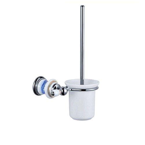 RFF-WC- / Badzubehör eingestellt Badausstattung Sets Badezimmer-Zubehör Sanitär Badinstallationen Lagersysteme Kupfer weiße Keramik ChromZahnbürste Rack Seifenspender, Toilettenbürste