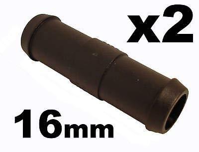 227s - Deux raccords de tuyaux - droit - tuyaux d'eau/carburant/reniflard - résistant à des températures entre -30 et + 140 °C - 16 mm