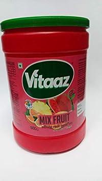 Vitaz Instant Drink Powder Mix, Mixed Fruit Flavor, 500g Jar