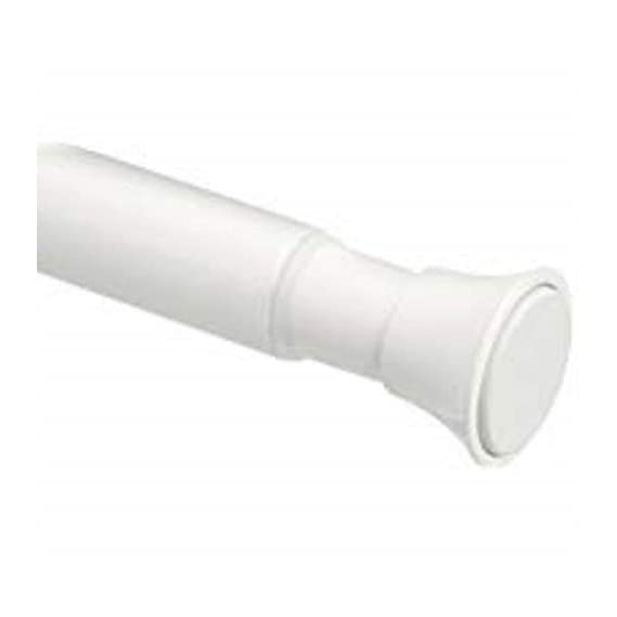 AmazonBasics Adjustable Shower Curtain Tension Rod - 36-54, White