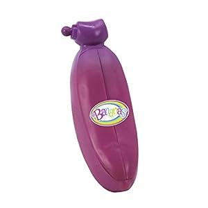 Bananas 35843 - Juego de Figuras de plátano con Olor a pelar y Sabroso, Incluye 7 Pegatinas de Piedras Preciosas, 2 Amigos de Squishy, Colgador y Hoja de colección, Color Rosa