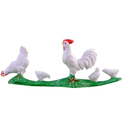Vektenxi Niedliche Miniatur Weißer Hahn Kaninchen Ente Garten Zubehör Landschaft Bauernhof Puppenhaus Ornament Dekoration Küken Hohe Qualität -