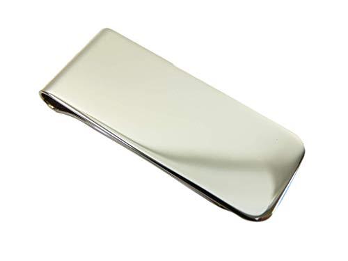 New massivem Sterling Silber Geld Clip Kleine Kennzeichen für Gravur Geschenkbox