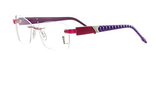 Switch it! Exclusive Garnitur dreifarbige Acetat Wechselbügel in verschiedenen Farben (9095: rot-violett)