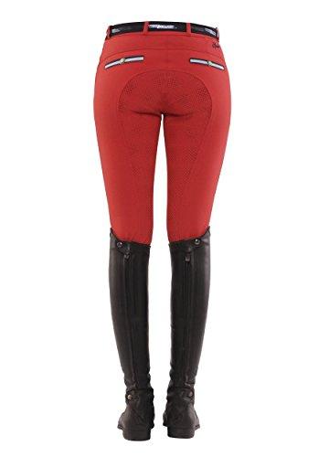 SPOOKS Reithose für Damen Damenreithose Reithosen Turnierreithose Vollbesatzreithose vollbesatz - Ricarda Full Grip - Rot XL