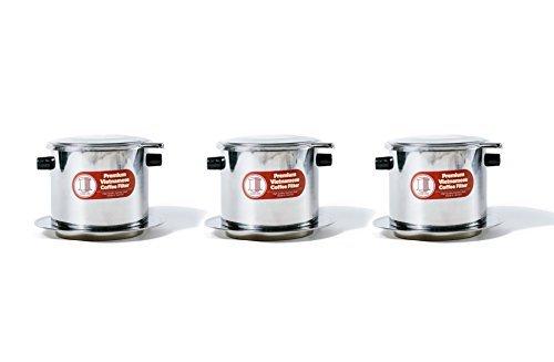 Drücken Sie Filter-kaffeemaschine (Vietnamesisch Kaffee Filter Set. Auch bekannt als Vietnamesisch Kaffeemaschine oder Drücken Sie Extra Groß X-Large (15 oz) edelstahl)