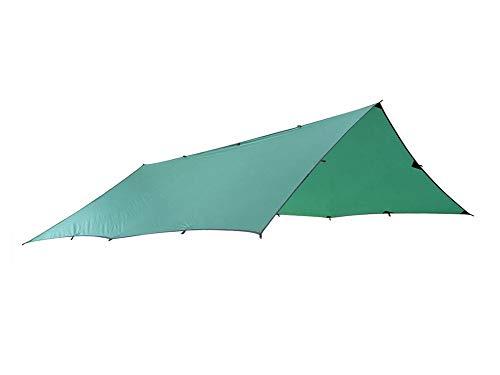 SUNRIS Zelt Plane Sun Shelter Zelt Wasserdichte Markise Wandern Tragbare Baldachin Outdoor Pavillon Zelt Große Größe Silikonbeschichtung (Grün 3x3 Mt)