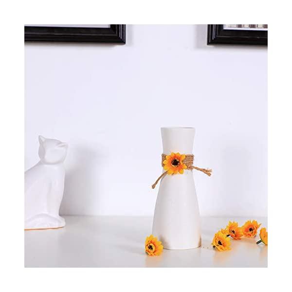 T4U 100Pcs Cabezales de Girasol de Seda Artificial Falsas Cabezas de Girasol Amarilla para Casa Jardín Boda Partido…