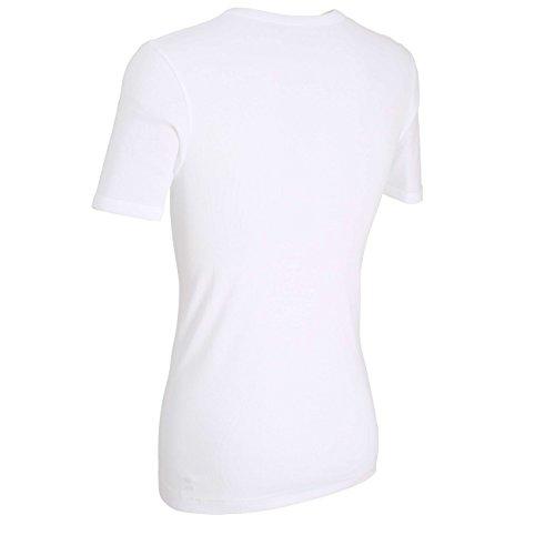 bugatti Herren T- Shirts mit Rundhals oder V-Ausschnitt, 2er Pack Weiß