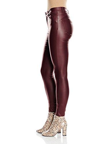 VERO MODA Vmseven Nw Ss Smooth Coatclr Pant Noos, Pantaloni Donna Rosso (Decadent Chocolate)