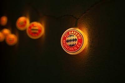 Lichterkette FC Bayern warmweiß Partylichterkette mit 10 Lampen Lichtern von Better Lights auf Lampenhans.de
