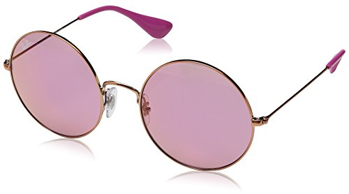 Ray-Ban Damen Sonnenbrille Rb 3592 Shiny Copper/Pinkdarkmirrorred, 55
