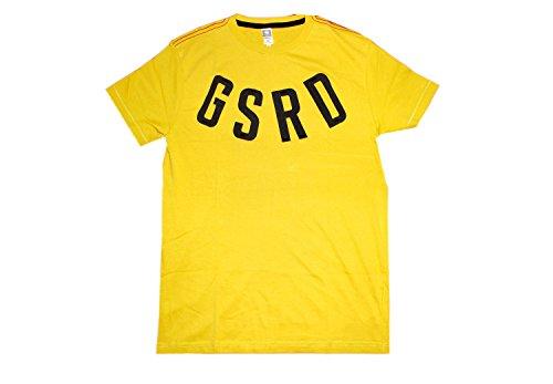 G-Star Jarrad GSRD Logo stampato giallo senape cotone, maglietta a maniche corte con scollo rotondo giallo small